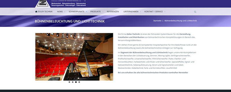 Zeiler-Technik präsentiert neue Webseite